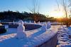 Mini Snowmen in Riverside Park, Easton, PA   12/11/2013