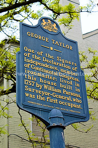 One of the Signers of the Declaration of Independence, member of Continental Congress, ironmaster, lived in this house built in 1757 by William Parsons, Surveyor-General. First occupied by Parsons.
