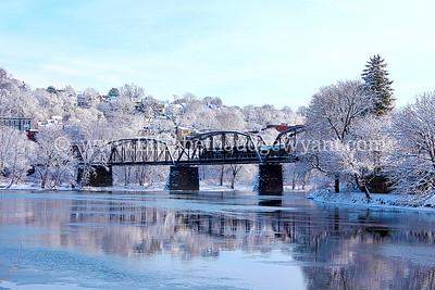 Snowy Lehigh & Trains