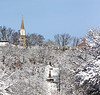 Snowy Lafayette College view, Easton, PA  2/4/2014