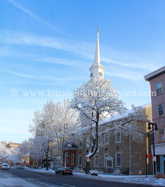 Snowy Scene, First United Church of Christ (formerly First Reformed Church) was built in 1776, N Third St, Easton, PA 2/4/2014