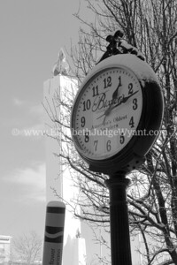 This clock originally stood at 4th and Northampton Streets in front of what was then Bixler's Jewelers. In 1912 was sold to Orr's department store and finally bought back in the 1990's and still stands as a reminder of Bixler's in Easton, PA 2/14/14