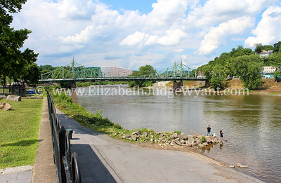 Delaware River, Free BRidge and Rt 22 Bridge, Easton PA 7/11/2014