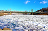 Icy view of the Delaware River, Easton, PA 1/7/2014
