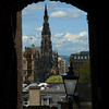 Scott's Monument viewed through Advocate's Close, Grassmarket, Edinburgh