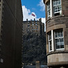 Edinburgh Castle viewed from Grassmarket