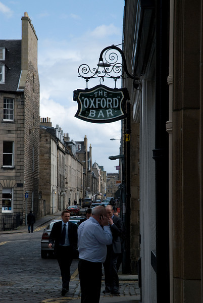 "The Oxford Bar, Edinburgh.  Made famous by the ""Rebus"" novels of Ian Rankin"