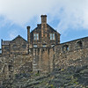 """Stepped"" roof on buildings which are part of Edinburgh Castle"