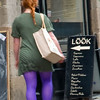Girl In Purple Tights, Grassmarket, Edinburgh