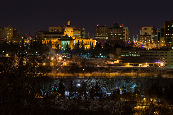 Edmonton Night Skyline