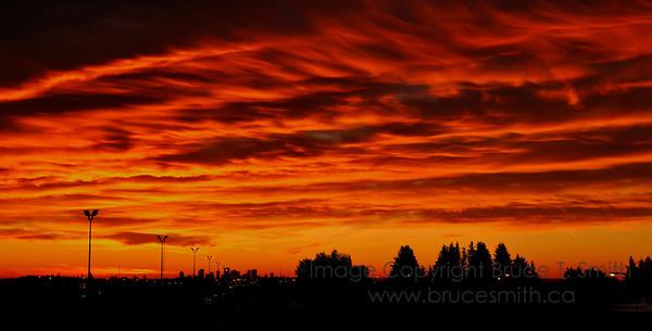 Amazing sunrise over Edmonton