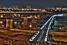 Edmonton LRT Bridge at Night