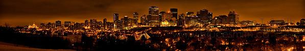 Edmonton night panorama
