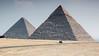 0051-0027 Great Pyramid of Khufu and Pyramid of Khafre, Giza, March 19, 2005
