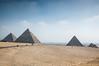 0051-0025 Great Pyramid of Khufu, Pyramid of Khafre and Pyramid of Menkaure, Giza, March 19, 2005