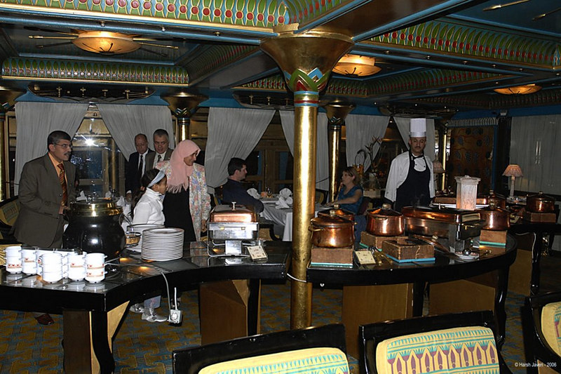 Buffet on boat