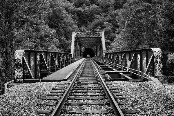 Railroad bridge over the Patapsco River.
