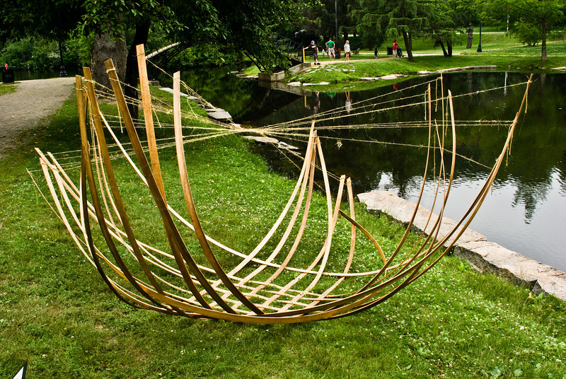 Tidal Project (Floating in Mere Pond) by Lynn Simmons