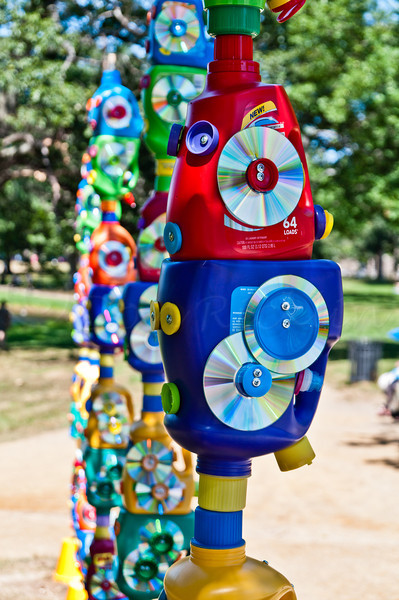 Household Goods Laundry Bottle Totems by Susan Champeny