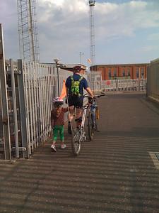 Crossing the locks at Shoreham Harbour