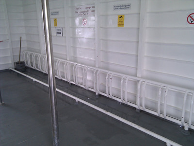 Oooh, look! Bike racks for ferry travel
