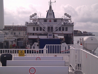 Other WightLink Ferry in dock