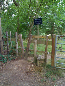 V shaped stile outside Leigh