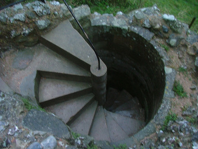 Stairs down to the wet dungeon