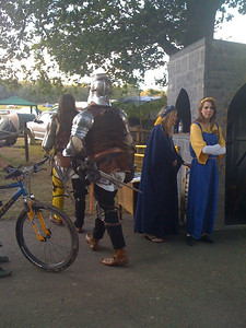 Knights returning from Battle