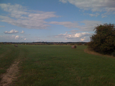 In the distance, the observatory for Herstmonceux science center