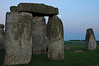 Stonehenge at sundown with full moon - Avesbury, England