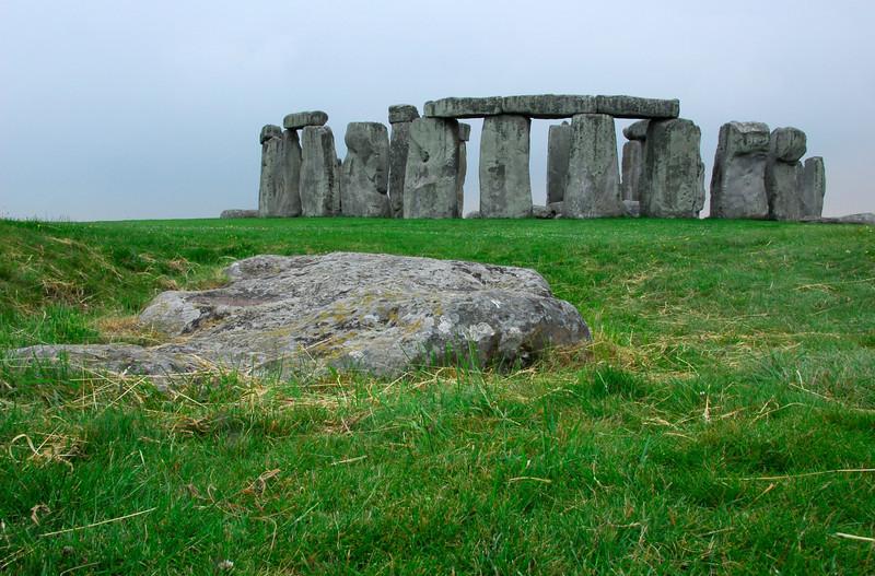 Stonehenge with keystone in foreground - England