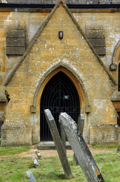 Cotswold church and grave yard - Great Tew, England