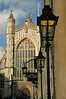 Bath Cathedral and front of The Pump Room - Bath, England