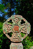 Celtic cross and lichen - St Just, England