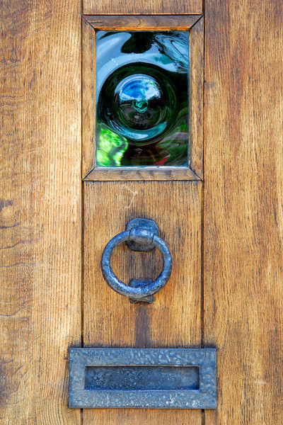 Typical wooden door to Cotswold home - Upper Slaughter, England