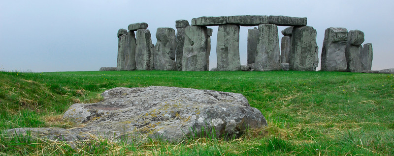 Stonehenge with keystone in foreground - England - Letterbox or Banner Format