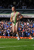 Birmingham City Blues fan streaking in a Borat suit