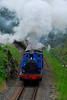Steam Train in the Lake District leaving Newby Station, England