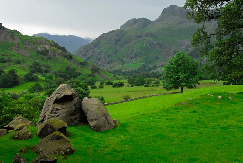 Pastoral scene in Lake District - Chapel Stile, England