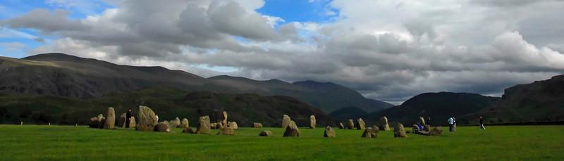 Castlerigg Stone Circle under cloud filled sky - England - Letterbox or Banner Format