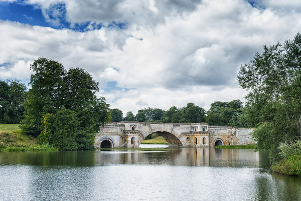 bridge at Blenheim Palace, ancestral home of the Churchill family