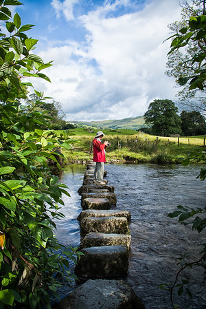 A stone crossing over the creek near Ambleside
