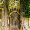Door into St. Edwards Church, Stow on the Wold, in the Cotswolds