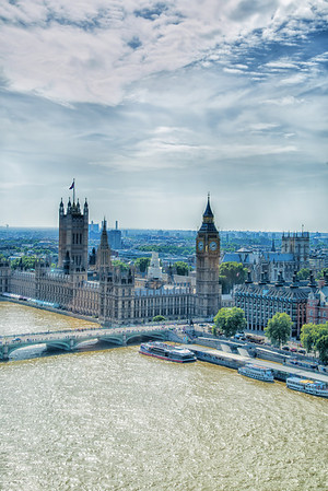 Big Ben and Parliment from the Eye