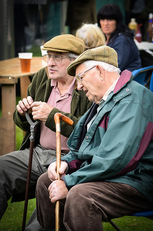 Two locals at a dog show near Ambleside