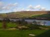 Erskine golf course from the Erskine Bridge.<br /> 12th November 2011