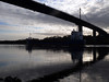 UPHUSEN passing under the Erskine Bridge.<br /> 12th November 2011