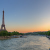 Seine River and Eiffel Tower - Paris, France