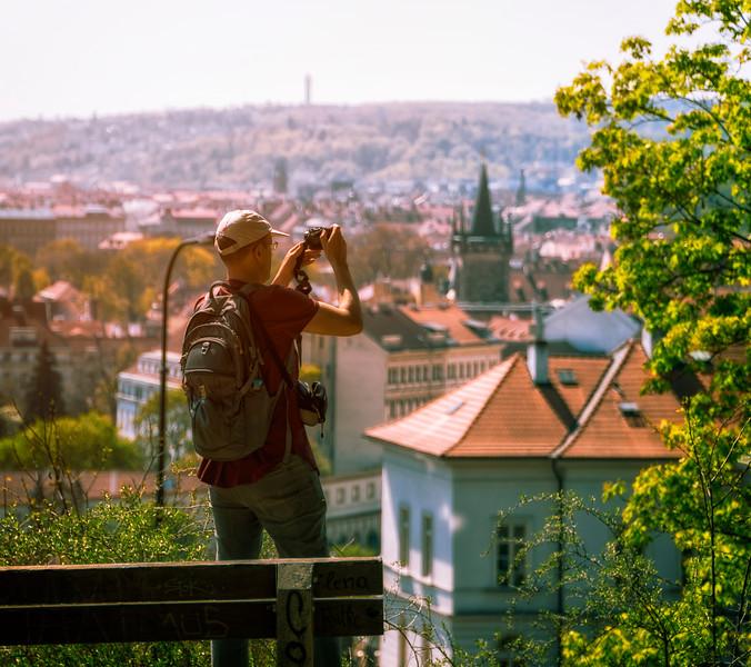 views from Vojanovy Sady park